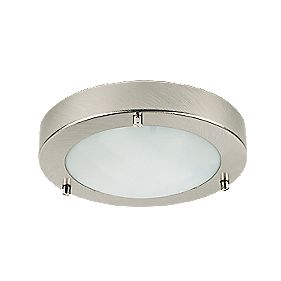 Portal Brushed Chrome Bathroom Ceiling Light G9 25W