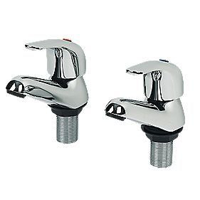 Swirl Single Lever Bath Taps Pair Chrome