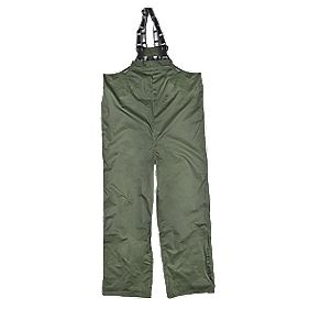 "Helly Hansen Waterproof Mandal Bib Green Large 36-38"" W 33"" L"