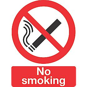 """No Smoking"" Sign 200 x 150mm"