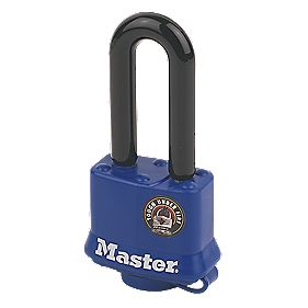 Master Lock Weatherproof Padlock with Long Shackle Steel 40mm