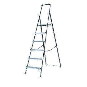Lyte Platform Step Ladder Aluminium 6 Treads 1.9m