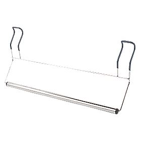 Croydex Hook-Over Single Towel Rail Chrome 182 x 400mm