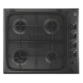 Indesit Gas Hob Black 510 x 580mm