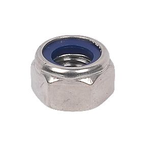 Nylon Lock Nuts A4 Stainless Steel M16 Pack of 50