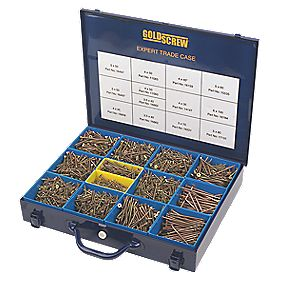 Goldscrew Woodscrews Expert Trade Case Double-Countersunk Pack of 2800