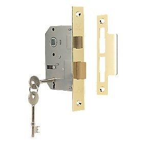 "Sterling 3-Lever Mortice Sashlock Brass 2½"" (64mm)"