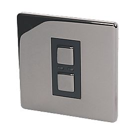 1-Gang 1-Way Dimmer Switch Black Nickel with Black Insert 250W