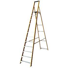 Lyte Platform Ladder Aluminium & Fibreglass 12 Treads 3.17m