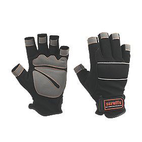 Scruffs Max Performance Specialist Handling Fingerless Gloves Black Large