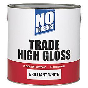 No Nonsense Trade High Gloss Paint Brilliant White 2 5ltr Gloss Paints
