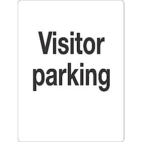"""Visitor Parking"" Sign 400 x 300mm"