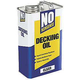 No Nonsense Timber Decking Oil Clear 5Ltr