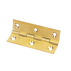 Solid Drawn Brass Hinge Self-Colour 76 x 41mm Pack of 20