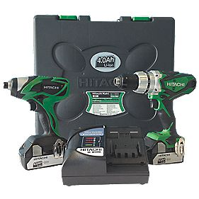 Hitachi KC18DKL 18V 4Ah Li-Ion Twin Pack Combi Drill & Impact Driver