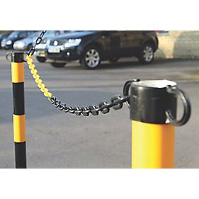 JSP Plastic Barrier Chain Yellow & Black 5m x 6mm
