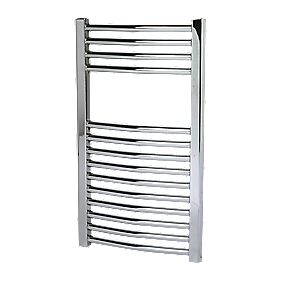 Kudox Curved Towel Radiator Chrome 400 x 700mm 182W 621Btu