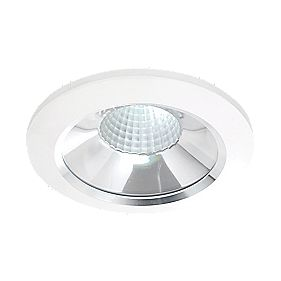 Mains Voltage 10W LED Downlight Matt White & Aluminium