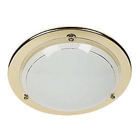 70700/16/01 Circular Ceiling Light Brass 16W