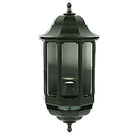 ASD 60W Black Slave Half Lantern Wall Light PIR Included