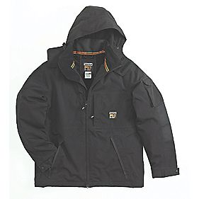 "Timberland Pro Oxford Waterproof Parka Jacket Black Medium 37-39"" Chest"