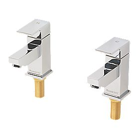 Moretti Quadrata Bathroom Basin Taps Pair