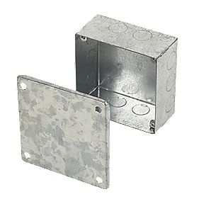 Appleby Galvanised Adaptable Box with Knockouts 100 x 100 x 50mm