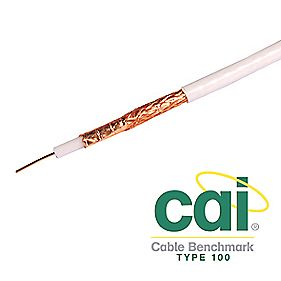 Labgear PF100 Satellite Coaxial Cable 25m White