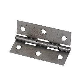 Steel Fixed Pin Hinges Self Colour 75 x 51 x 1mm Pack of 20