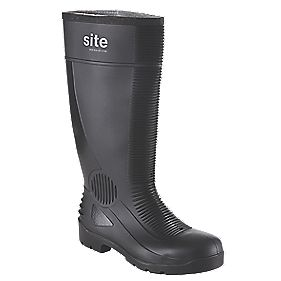 Site Trench Safety Wellington Boots Black Size 7