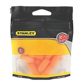 Stanley Foam Disposable 34dB Ear Plugs 10 Pairs