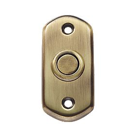 Carlisle Brass Shaped Door Bell Push Florentine Bronze 74 x 35mm