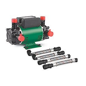 Salamander Pumps CT50+ Positive Head Twin Shower Pump with Isolators bar