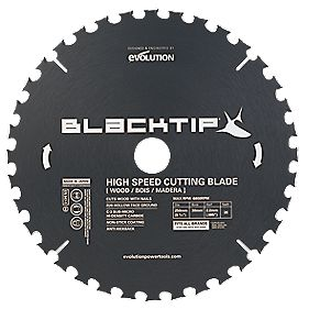 Black Tip TCT Wood with Nails Blade 185mm 24T