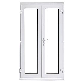 Euramax upvc french door white 1790 x 2090mm doors for Upvc french door hinges