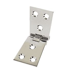Brass Counterflap Hinges Polished Chrome 38x102mm Pack of 2