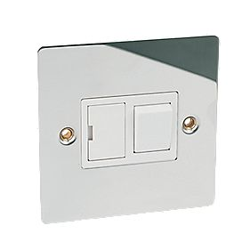 Volex 13A Switched FCU Polished Chrome Flat Plate