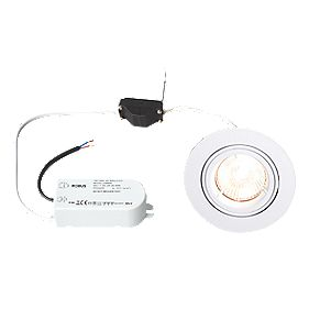 Robus Fixed Round Low Voltage Downlight Pre-Wired White 12V