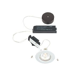 LAP Fixed Round Low Voltage Downlight Pre-Wired Kit Gloss White 12V