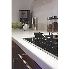 Apollo Magna Ice White Worktop with 1½ Bowl White Sink 1800 x 650 x 42mm