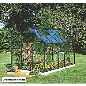 "Halls Popular Framed Greenhouse Green 5'10"" x 9'10"" x 6'6"""