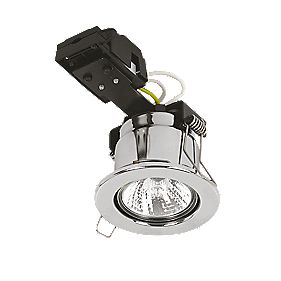 Sylvania Fixed Round Mains Volt Fire Rated Downlight Polished Chrome 240V