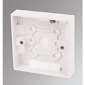 Marbo 1-Gang Surface Pattress Box White 16mm