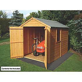 Shire Shiplap Double Door Apex Shed 8 x 6 x 7' (Nominal)