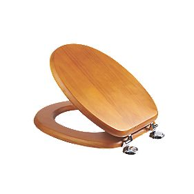 Croydex Sit-Tight Douglas Toilet Seat Pine Antique-Effect