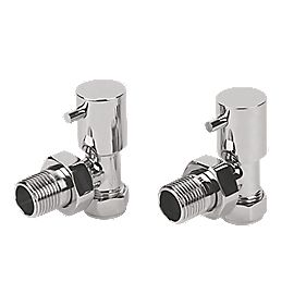 Roma Angled Radiator Valve 15mm Pair