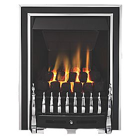 Focal Point Excelsior Traditional Gas Fire Antique Chrome Inset 120mm 3.1kW