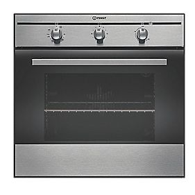 Indesit FIM31 KA BK Single Built-In Electric Fan Oven S/Steel 595x595mm