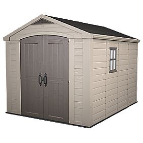 Keter Plastic Double Door Apex Shed 8' x 11' (Nominal)