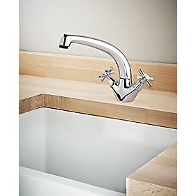 Swirl Quadra Mono Mixer Kitchen Tap Chrome